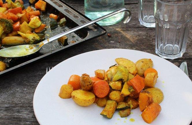 groente met kip en kurkuma