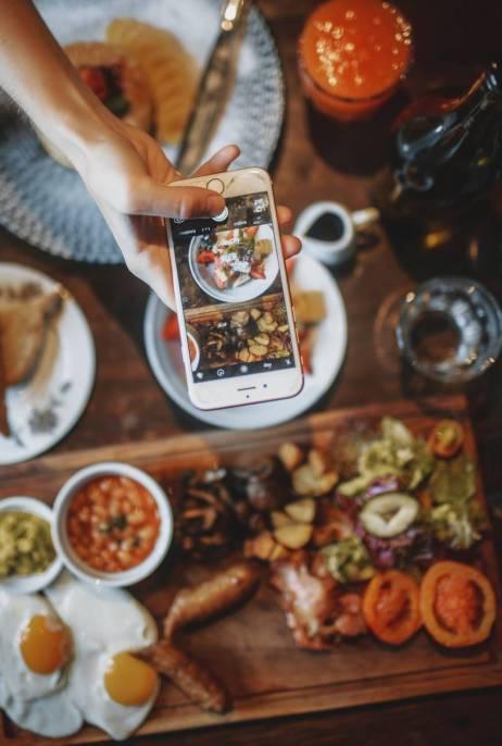image of food social media