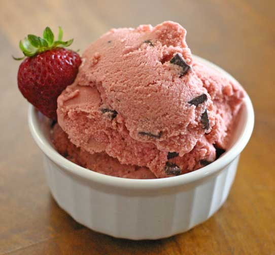 Homemade Vegan Strawberry Ice Cream Recipe