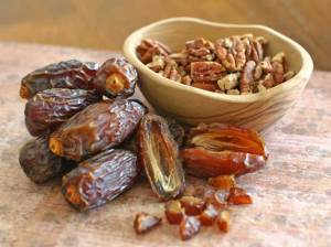 Dates and Nuts for our Homemade Granola Recipe