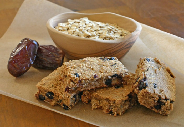 Healthy Vegan Banana Blueberry Oatmeal Breakfast Bars