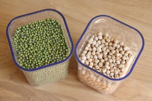 vegan pantry staples - how to store beans and lentils