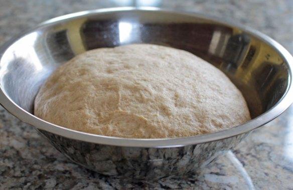 Vegan Challah Bread Dough - Risen