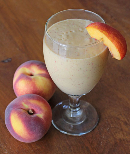 Healhty Vegan Peaches & Cream Smoothie