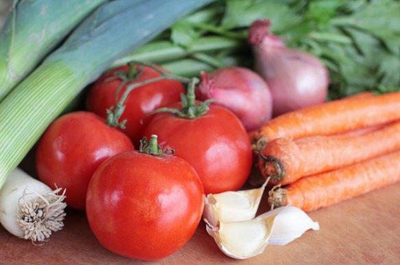 Vegan Minestrone Soup Vegetables