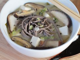 vegan miso soup recipe with soba noodles