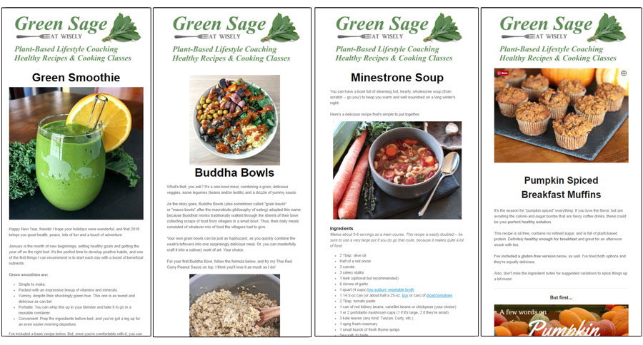 Newsletter green sage above are a few examples of past issues each contains a simple recipe and related health information forumfinder Gallery