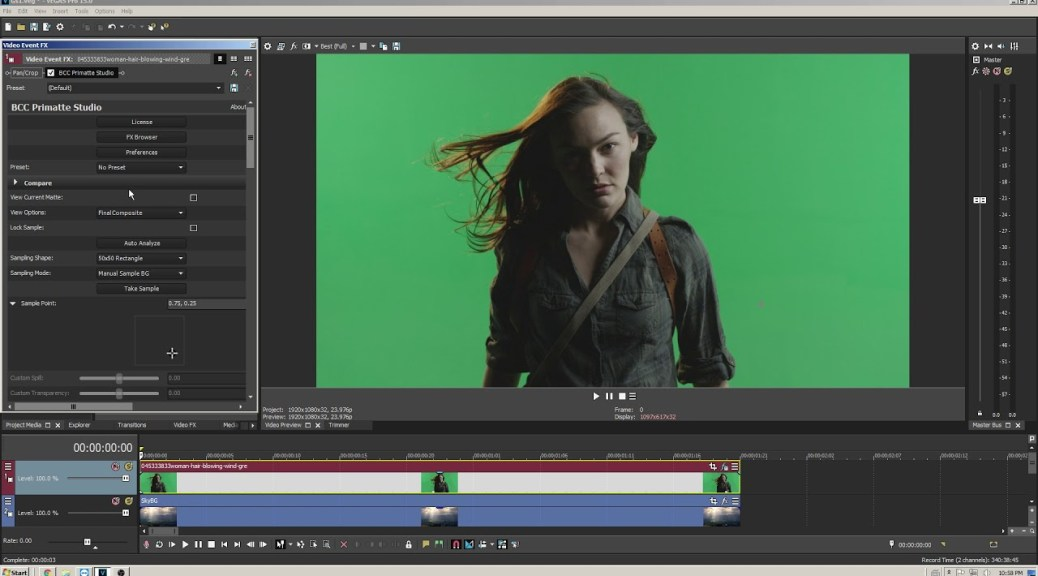 Chroma keying, masking and more using Vegas Pro with Continuum from Boris FX