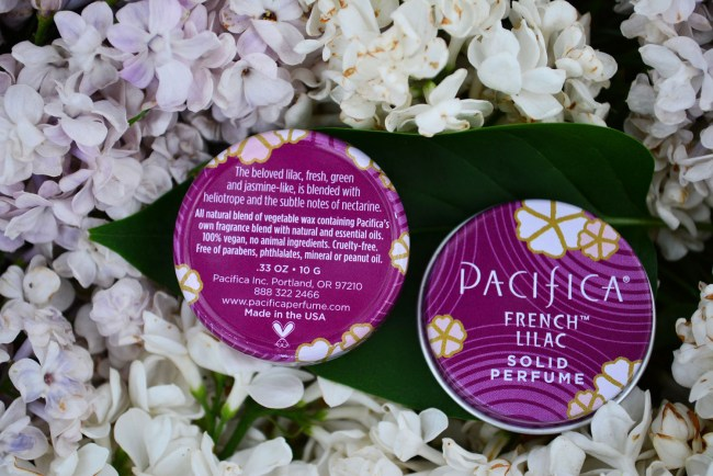 Pacifica French Lilac Parfum INCI