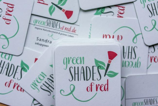 Green Shades of Red Moo Visitenkarten