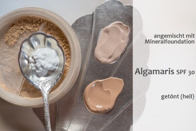 Algamaris Sonnenschutz SPF 30 getönt für helle Haut Naturkosmetik
