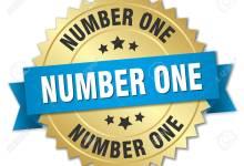 44496646 number one 3d gold badge with blue ribbon - تجربتي مع حبوب بيوتين للشعر