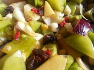 Green Tomato & Red Chilli Pepper Chutney