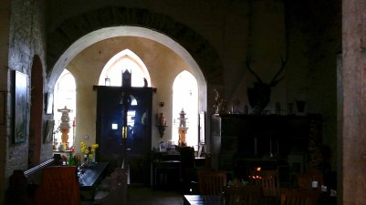 The Great Hall in Leap Castle in the Magical Midlands
