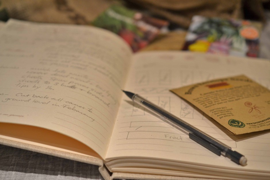 Keeping Notes of Seeds & Crop Rotation in a Garden Diary