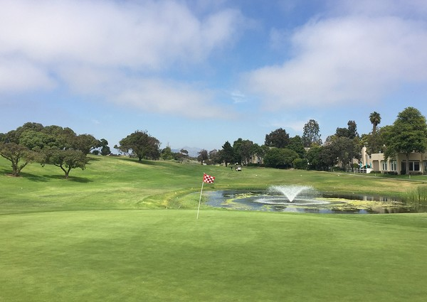 River Ridge Golf Course Oxnard California Hole 13 Green-side