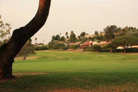 Los Verdes Golf Club Rancho Palos Verdes California Hole 8 Green-side looking back
