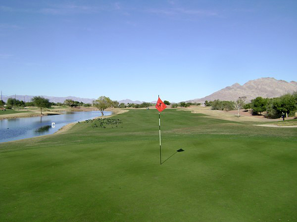 Stallion Mountain Golf Club Las Vegas Nevada Hole 18 Green-side