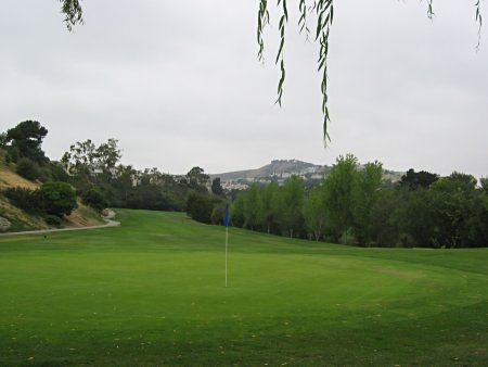 Shorecliffs Golf Club San Clemente California Hole 1 looking back Par 5