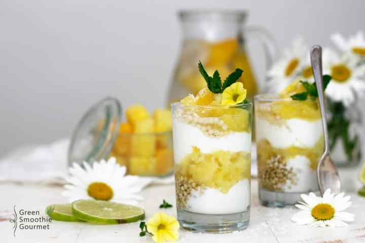 Pineapple Lime Coconut Parfaits