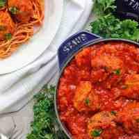 Healthy Italian Vegan Meatballs & Marinara Sauce