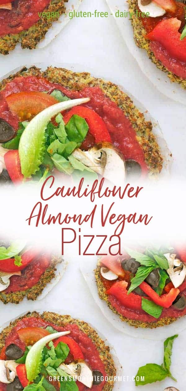 Cauliflower Almond Vegan Pizza