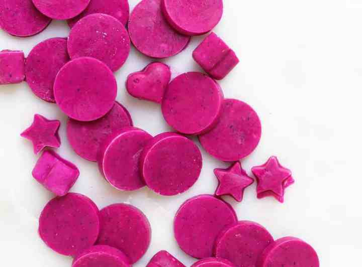 3-ingredient Dragon Fruit Protein Workout Wafers