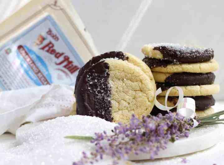 Sparkling Sugar Chocolate-Coated Cookies & the Boston Marathon