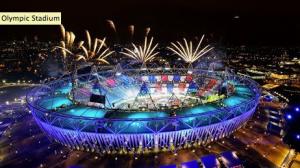 london olympic stadium at night