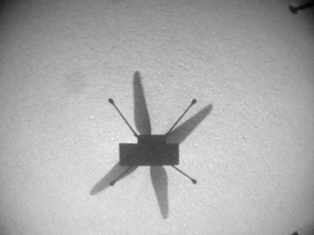 «селфи» Ingenuity во время сегодняшнего, 7-ого полёта