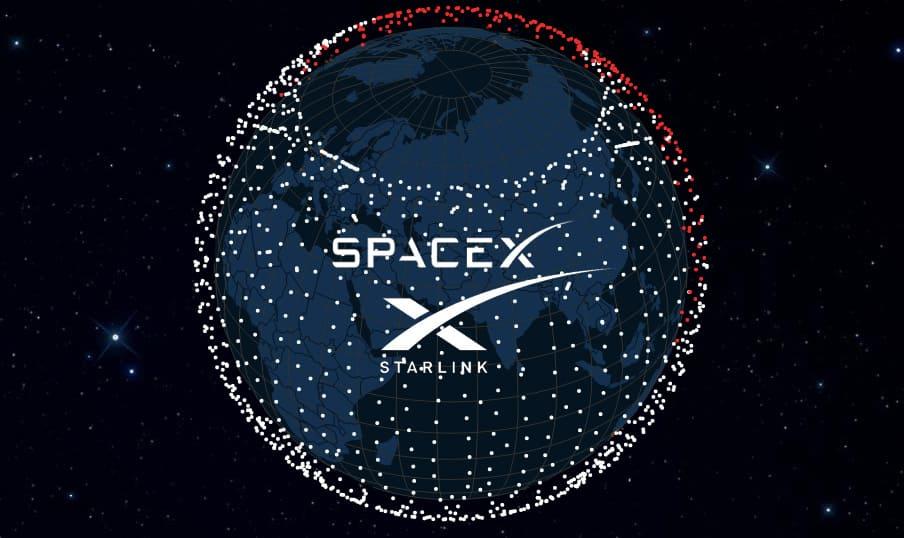 Starlink satellite map