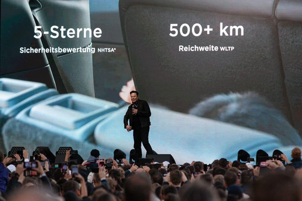 Илон Маск на открытии Giga Berlin Gigafactory 4