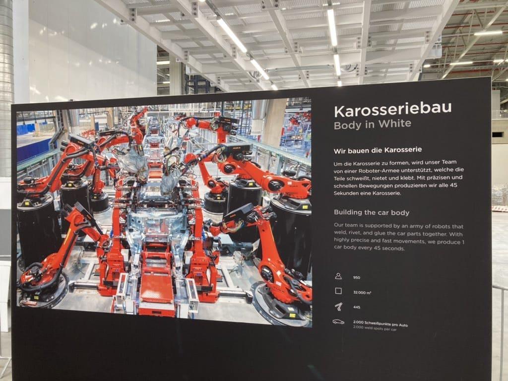 производственный процесс будет доведён до возможности сборки 1-ого кузова каждые 45 секунд