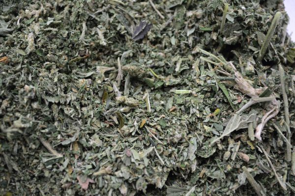 Certified organic milled CBD hemp biomass