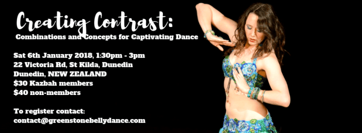 Creating Contrast_ Combinations and Concepts for Captivating Dance. 2018 Workshop with Siobhan Camille of Greenstone Belly Dance.