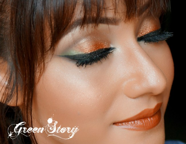 eye look with Sleek Garden Of Eden Eyeshadow palette