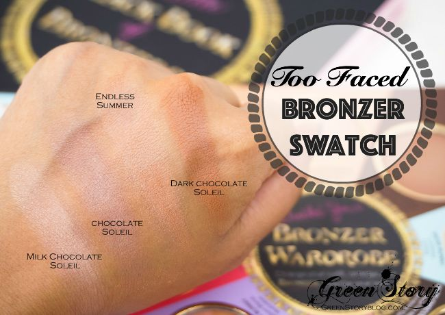 TooFaced Bronzers Swatch