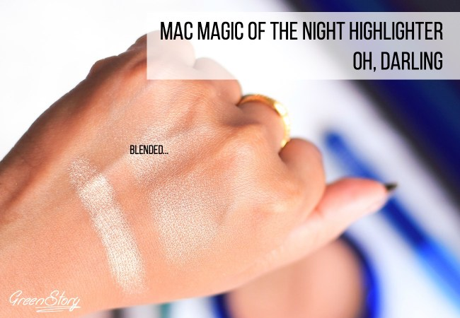 MAC Oh Darling Highlighter Swatch