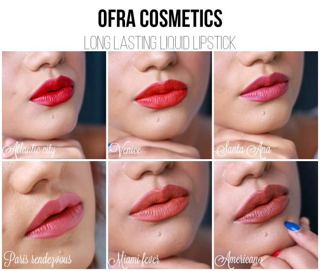 Ofra Liquid Lipsticks Lip Swatch