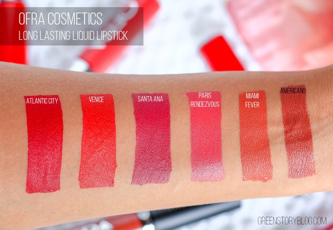 Ofra Liquid Lipsticks Swatches