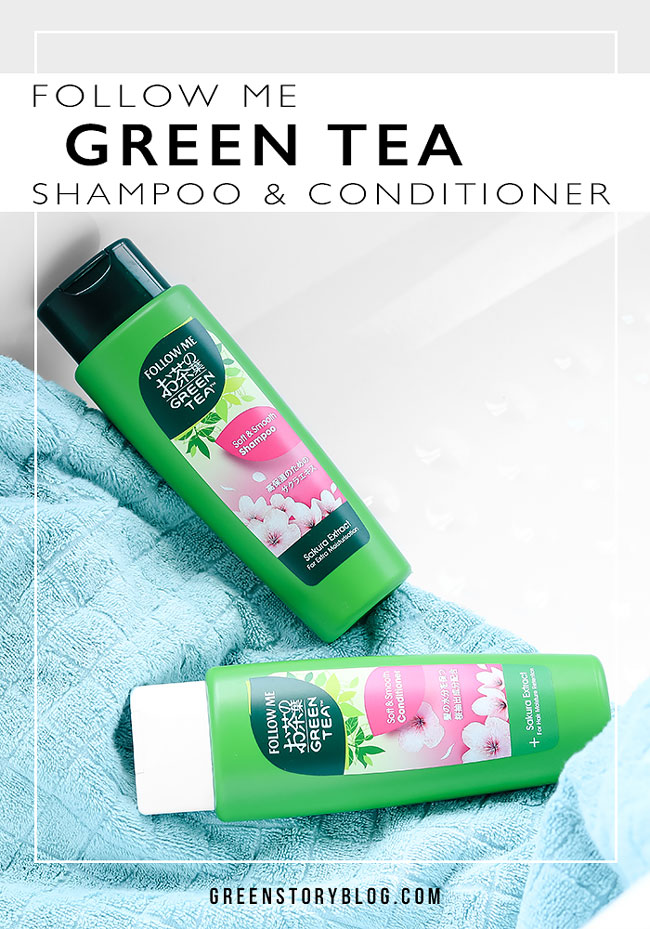 Follow Me Green Tea Shampoo and Conditioner for Soft & Silky Hair