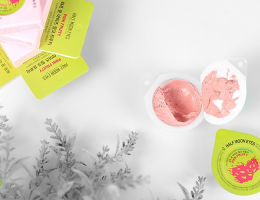 Half Moon Eyes Pink Fruity Wash Off Mask   10 Minute Oil-free, Bright Skin