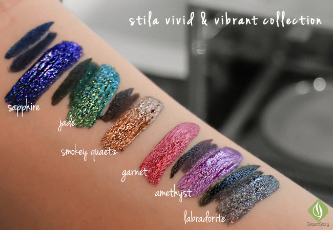 stila vivid & vibrant collection | stila shimmer and glow liquid eyeshadow swatch