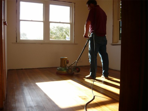 buffing the whole floor