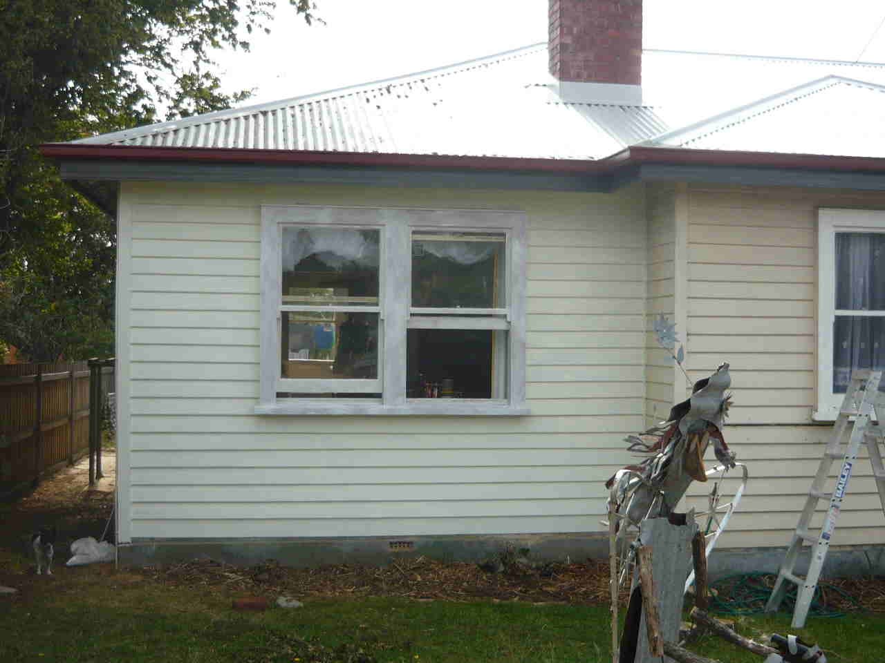 weatherboards with Rockcote ecostyle topcoat