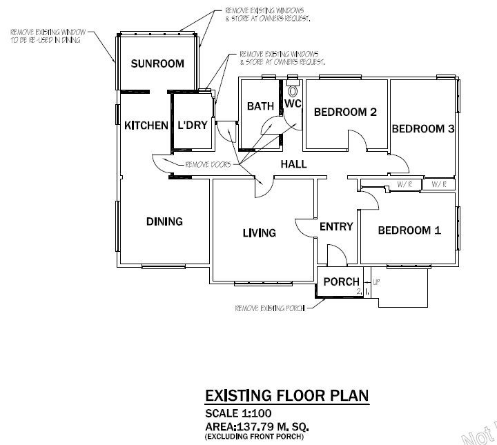 original layout of house