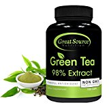 Green Tea Extract Supplement EGCG for Healthy Weight Loss by Great Source Nutrition – Natural Fat Burner, Boosts Metabolism, Promotes Healthy Heart, Antioxidant, Caffeine Source for Energy, Non-GMO