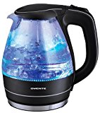 Ovente KG83 Series 1.5L Glass Electric Kettle, Black