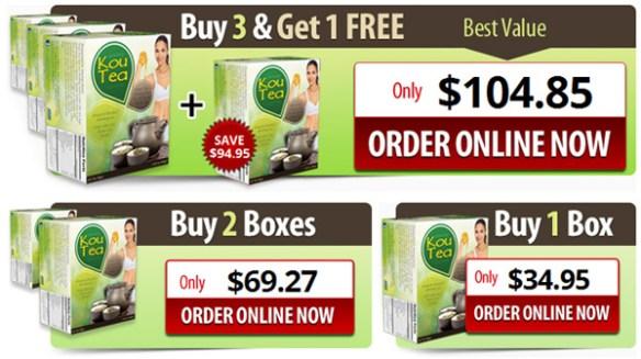 Kou Tea 3 + 1 Free Offer
