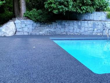 Rubber Pool Decks Rubber Paving Green Tech Resurfacing Ltd